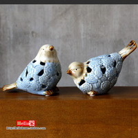 Love bird lovers ceramic animal decoration rustic home decoration