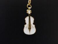 New Arrive Metal Violin Usb Flash Drive  Present Key Chain 8G High Capacity Pen Drive Gift Memory Card
