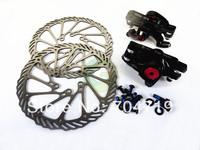Black Colour Mechanical Disc Brake MTB Bike Cycling Bicycle Front Rear Caliper 160mm Rotors
