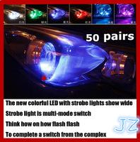 Car LED running lights show wide light evening multifunctional daytime running lights strobe lights T10 6W 18 kinds of patterns