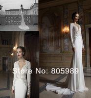 Free shipping best selling custom-made any color Fashion Chiffon and Satin  wedding dress SH01072
