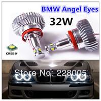 High Power Error Free CREE  H8 32W LED Angel Eyes Halo Ring Light Bulbs