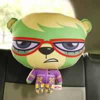 Cute headrest neck pillow car pillow kaozhen neck pillow car headrest cartoon neck pillow car seat headrest