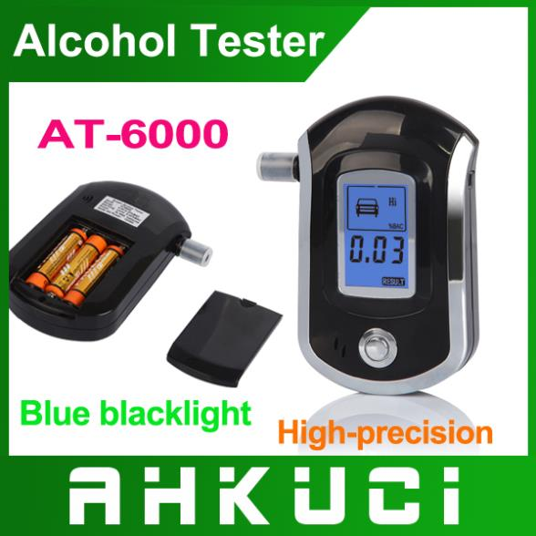 Free Shipping Professional Mini Police Digital LCD Breath Alcohol Tester Breathalyzer(China (Mainland))