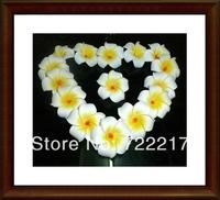 free shipping 50pcs Large 4.5CM WHITE Fabulous Hawaiian foam frangipani flowers wedding party decor