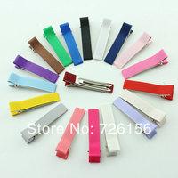 Free Shipping  (300pcs/lot)Colorful Mini Satin Ribbon Clips Headgear Accessories Double Climb Clip
