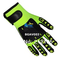Impact Resistant Glove Mechanics Working Gloves High visibility Safety Gloves Anti Vibration Shock Work Glove