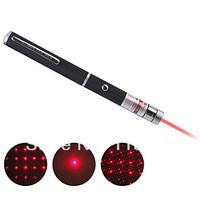 2-Mode Powerful Red Laser Pointer Lazer Beam Light High Power (5mw,650nm,Black) Star Cap New GIFT