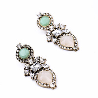 New Styles 2014 Fashion Girls Jewelry Pink Resin Plant Stud Earrings