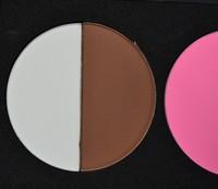 4 colors Powder face-lift small trimming powder blush white shadow brown pink orange free shipping 2pcs/set