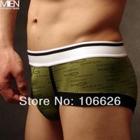 #NK088 men's kute underwear cartoon fish pattern U convex design cotton trunks boxer shorts