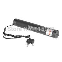 Lockable Military Green Laser Pointer Pen Light Beam High Power Adjustable Focus Safety Lock (532nm,Black)