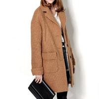 Single breasted camel wool wool coat outerwear Y8P2