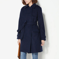 Jacarandas unisex double breasted elegant all-match woolen overcoat  Y8P2