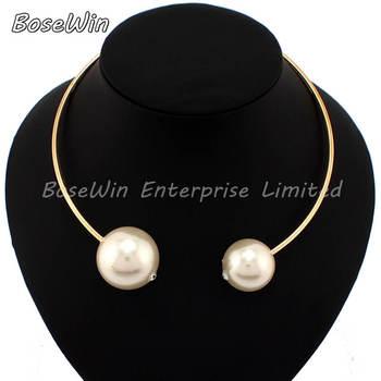 2014 European Big Brand Torques Jewelry Модный All Match Statement Женщины Pearl ...