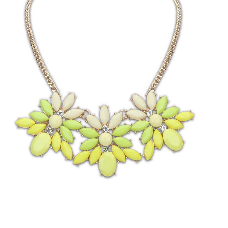 primavera acessórios luxo moda resina moda curto design colar multicolor(China (Mainland))