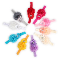 10pcs Kids Girl Baby Toddler Infant Flower Headband Hair Bow Band Accessories Free Shipping