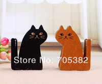 (Without tape), Cute cat shape wooden tape Dispenser,  tape dispenser, free shipping , good quality (ss-232)