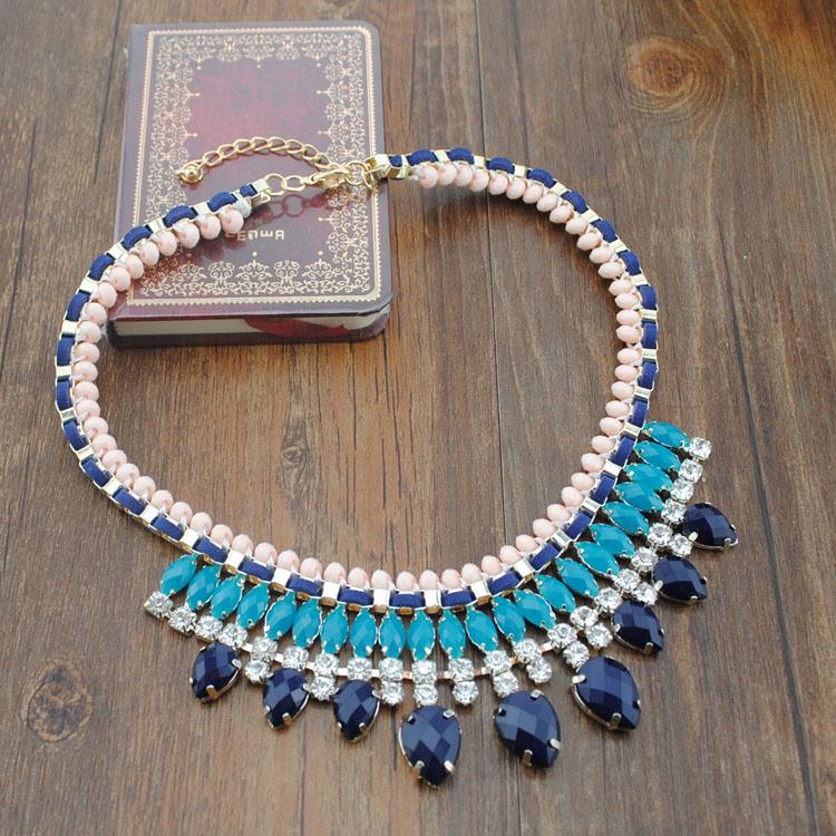 Jc 2014 resina garra cadeia de acessórios de moda queda do vintage acessórios de design colar curto(China (Mainland))