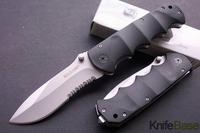 MAXAM-Y0853 black bear folding knife titanium gray surface Aircraft Aluminum handle Tactical hunting knives tools free shipping