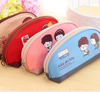 Free shipping Fashion Multifunction Pencil Shape Pen Case Cosmetic Makeup Make Up Bag Zipper Pouch Purse