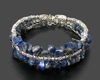 Tibet style Handmade jewelry Tibet Silver irregular shape lapis lazuli Bracelet