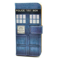 Doctor Who Tardis Wallet Leather Card Slot Case Stand Cover For New 5S iPhone IPHONE5