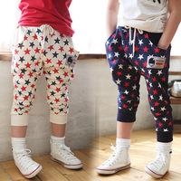 Boys Casual Style Pants Kids Summer Stars Pattern Harem Pants Cool Breeches,Free Shipping K3278