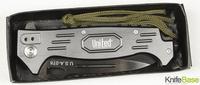 USA078 marksman folding Tactical knife (white blade) 440c 57hrc Aluminum handle hunting knives camping tools free shipping 1pcs