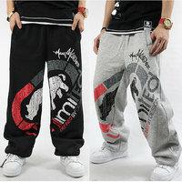 Hip Hop Streetwear Men's Clothing Sweatpants Loose Track Casual Pants Skate Rap M-XXL