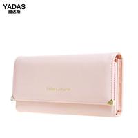 Yadas 2014 fashion brief metal rivet letter love women's long design wallet