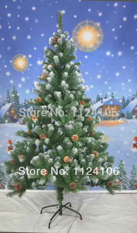 زيتة عيد الميلاد 2014-Christmas-Ornaments-Fashion-PVC-Christmas-font-b-tree-b-font-180cm-font-b-Snow-b