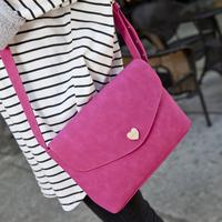 2014 fashion nubuck leather vintage envelope small bag women's handbag messenger bag