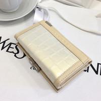Flowers and classic gentlewomen stone pattern women's short design wallet