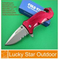 Cold Steel 723 MINI Pocket hunting knife Utility multi Survival folding Knife aluminium+steel Handle Half ToothFreeshipping