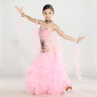HI-33 New 2014 ballroom dance competition dresses girls Modern One-piece dress Flamenco dresses tango Ballroom dancing dresses
