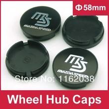4pcs W131 58mm Emblem Wheel Hub Caps Center Cover MS Mazdaspeed MAZDA M2 M3 M6 ATENZA CX5 CX7(China (Mainland))