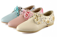 New arrival 2014 Preppy Style Fashion Sexy Leopard Print Flat Heel Oxfords For Women's Shoes Lace Up Women Casual Sneakers Shoes