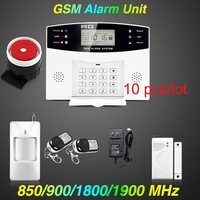 DHL/EMS Free Shipping! Spanish French English Voice Wholesales GSM Alarm System Home Alarm systems security for Home Security