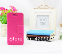 Free Shipping 2014 New arrival Universal Flip Leather case for Coolpad 8720L 5 inch Android Mobile phone cases