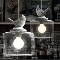 Modern style single head  little bird pendant light bar vintage american rustic lamp dining room light D200*360MM free shipping