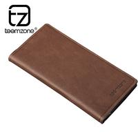 brand mens wallet men               long     vintage  genuine leather wallets purse men clutch card holder carteira masculina