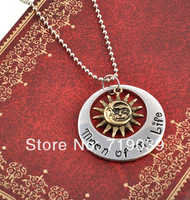 Free Shipping ! His and Hers Khal/Khaleesi Necklaces - Game of Thrones necklace moon of my life necklace,Sun and Stars necklace