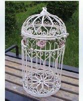 Fashion iron antique tieyi bird nest white bird nest display rack decoration