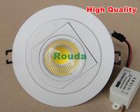white new 2014 cob ceiling lights 12w 10w 9w 7w 100lm/w high quality Energy saving rotatable