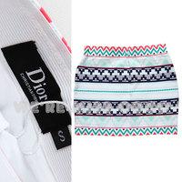 free shipping Miss coco2013 female fashion sexy d geometric patterns graphic slim hip bandage short skirt