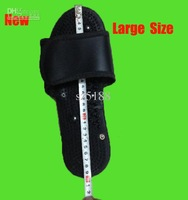 Wholesale - New Large Size Foot Relax Massager slipper with cable for Tens Acupuncture digital therapy machine ,29cm black 50pai