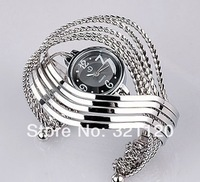 Item: 168022Fashionable Women Bangle Bracelet Wrist Watch Stainless steel Luxury Lady Girls Quartz Analog Wristwatch Silver