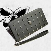 2014 women's vintage Skull purse,Black Skull  Evening Bag  Wallets