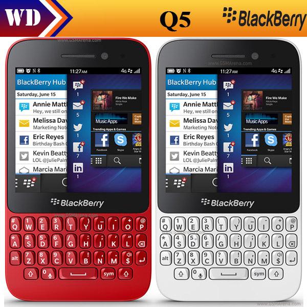 Original Blackberry Q5 2GB RAM+8GB ROM 5MP Dual-core Wi-Fi FM Radio refurbished cell phone(China (Mainland))